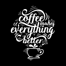 lettering quote of coffee sketch cafe chalk board design