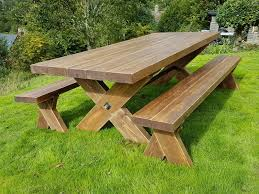 5ft rustic garden table and bench set