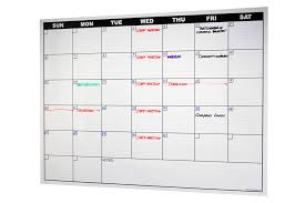 Peel N Stick Dry Erase Calendar Decal