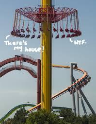 unlucky park goers stuck 300 feet in