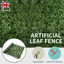 Uk Artificial Ivy Leaf Hedge Privacy Screening Garden Fence Panel Roll 1m X 3m Ebay