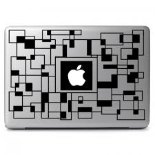 Apple Geometric Labyrinth Apple Macbook Air Pro 13 15 17 Vinyl Decal Sticker Dreamy Jumpers
