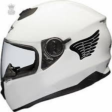 2 X Angel Wings Vinyl Decal Stickers For Bike Helmet Motorbike Quad Scooter Ebay