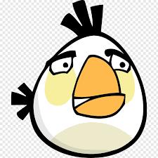 Food beak smile font, Angry bird white, white Angry Bird character ...