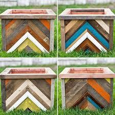 wooden garden planters ideas photograph
