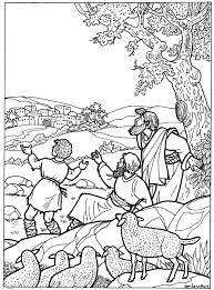 Kerstfeest Kleurplaat Herders 1 Bijbels Opvoeden Nl
