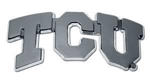 Tcu Chrome Emblem Elektroplate