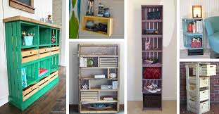 13 Best Creative Diy Wood Crate Shelf Ideas And Designs For 2020