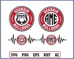 Georgia Bulldogs Svg Vector Cut File Cameo Cricut Design Bulldogs Monogram Download Vinyl Decal Tshirt Heat Transfer Iron Designbtf Com