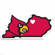 Louisville Cardinals Home State Decal 5 Vinyl Sticker