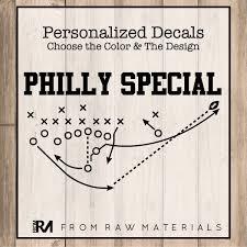 Philly Special Car Decal Philadelphia Football Decal Vinyl Car Etsy Custom Decal Stickers Custom Decals Car Decals Vinyl