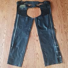 hudson leather pants chaps mens size
