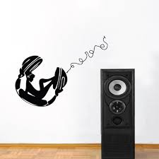 Chill Chick On Headphones Wall Decal Trendy Wall Designs