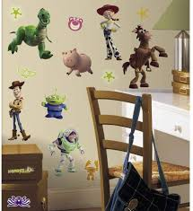 Amazon Com New Toy Story Wall Decals Buzz Lightyear Woody Kids Bedroom Stickers Room Decor Kitchen Dining