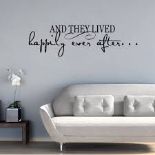 Quote Wall Decal And They Lived Happily Ever After Etsy