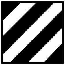 Amazon Com Military 3rd Infantry Division Patch Vinyl Car Decal White 15 By 15 Inches Automotive