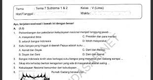 View Soal Tema 7 Subtema 1 Kelas V Sd Mi 2020 2021 2022  PNG