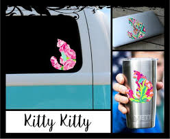 Cat Decal Kitty Ozark Tumbler Decal Laptop Car Etsy