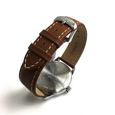 new england brown leather band watch