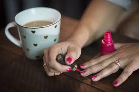quitting sac nails pink chai living