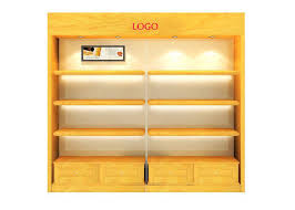 glass display cabinet wtih led light