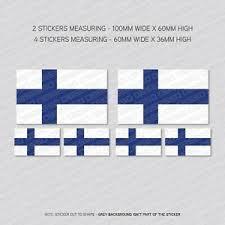 6 X Finnish Finland Flag Vinyl Stickers Decals Window Car Van Sku5488 Ebay