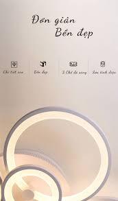 Đèn mâm LED ốp trần vòng tròn 6 cánh LT-901A-20 - Đèn trang trí TPHCM