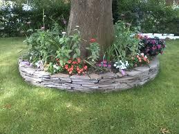 rock wall flower garden traditional