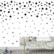 Amazon Com Melissalove 174pcs Mixed Size Star Wall Stickers Home Decor Bedroom Removable Nursery Wall Decals Kids Diy Art Decal Jw343 Black Arts Crafts Sewing