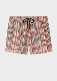 Men's 'Signature Stripe' Print Swim Shorts - Paul Smith Asia