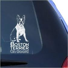 Amazon Com Boston Terrier Clear Vinyl Decal Sticker For Window Bull Terrier Dog Sign Art Print Arts Crafts Sewing