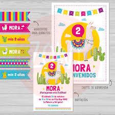 Kit Imprimible Cactus Y Llamas Imprimibles Zowi 380 00 En