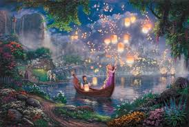 Tangled Magical Evening Wall Mural Etsy