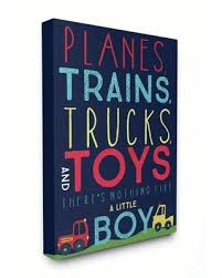 Check Out These Bargains On The Kids Room By Stupell Planes Trains Trucks And Toys Canvas Wall Art By Heather Rosas