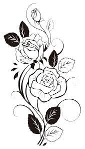999 flower clipart black and white