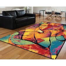 bright multi colored area rug cool