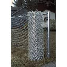 Actual 50 Ft X 4 Ft Galvanized Steel Chain Link Fence Fabric In The Fence Fabric Department At Lowes Com