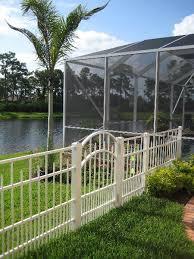 waterfront white aluminum fence