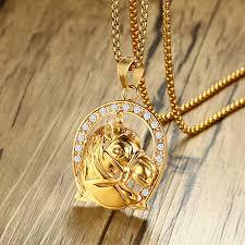 rhinestone crystal gold horse head