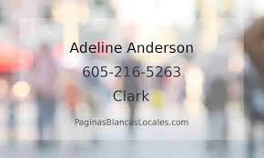 605-216-5263, Adeline Anderson Clark SD, Páginas Blancas Locales