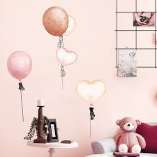 Pink Balloon Wall Stickers Self Adhesive Bedroom Wallpaper Warm Decor Wall Painting Kids Room Decoration Girl Home Decoration Accessories Wall Stickers Aliexpress