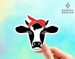 Cow Macbook Decal Etsy
