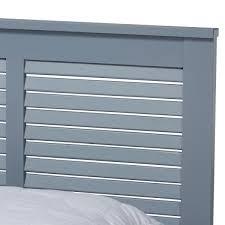 Baxton Studio Adela Gray Full Platform Bed-159-9602-HD - The Home Depot