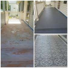 diy stencil concrete patio rug crafty