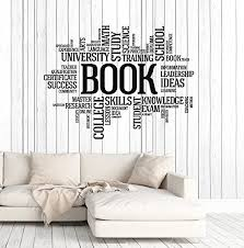Vinyl Wall Decal Books Words Bookworm Library Book Shop Stickers Ig4697