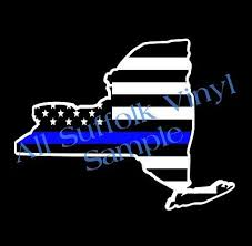 Nypd Police Blue Lives Love Flag Car Window Decal Sticker Vinyl 3 43 Picclick Uk