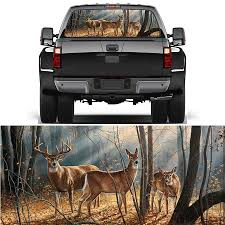 22 X 65 Car Rear Window Sticker White Horse Galloping Pattern Perforated Vinyl For Truck Jeep Suv Car Stickers Aliexpress