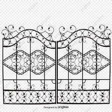 European Pattern Door Iron Gate Iron Fence Fence Gate Png Transparent Clipart Image And Psd File For Free Download