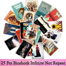 25 Pcs Fight Game Bioshock Stickers For Luggage Laptop Decal Toys Bike Car Motorcycle Phone Funny Doodle Cool Diy Sticker Aliexpress Com Imall Com