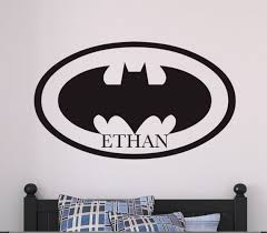 Personalized Batman Inspired Vinyl Wall Decal Large Marvel Etsy
